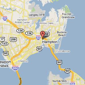 Hampton, VA Map