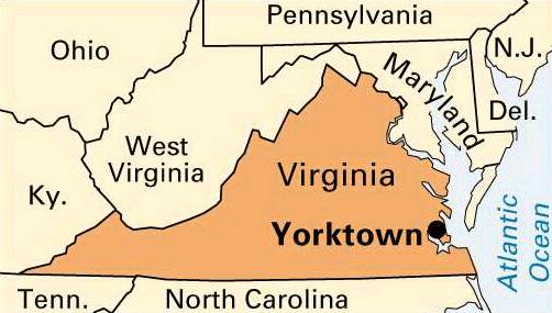 Yorktown, VA Map